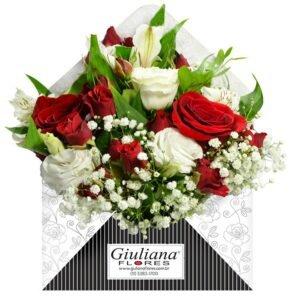 Presente para avó — Envelope de Flores Vermelhas