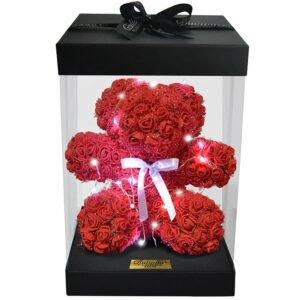 Teddy Star Flowers Vermelho