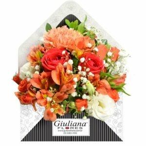 Envelope de Flores Laranjas