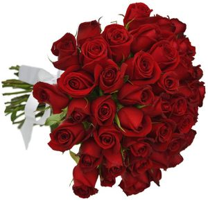 Buquê de 36 Rosas Vermelhas