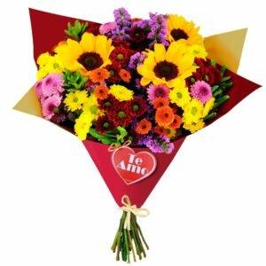 Buquê Mix de Flores Te Amo