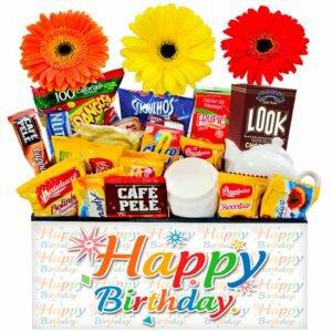 Cesta de Café Trio de Delícias Happy Birthday