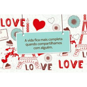 Cartão Love Paris