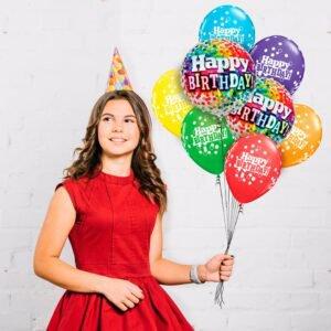 Buquê Premium de Balões de Aniversário