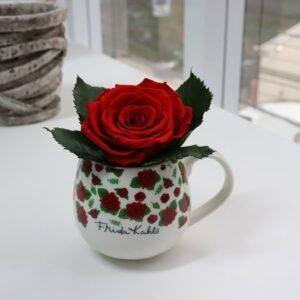 Caneca Frida Kahlo Flower e Rosa Encantada Vermelha