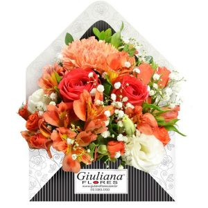 Envelope de Flores Laranja