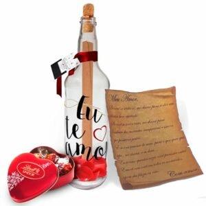 Carta Amor na Garrafa e Lindt