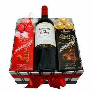 Kit de Vinho e Chocolate Especial