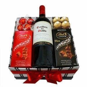 Kit Especial de Vinho e Chocolate