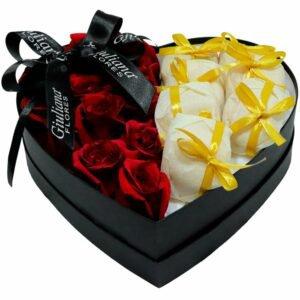 Coração de Rosas com Bem Casados
