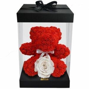 Teddy Flowers Red com Rosa Encantada