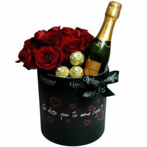 Majesto de Rosas com Chandon e Ferrero Rocher