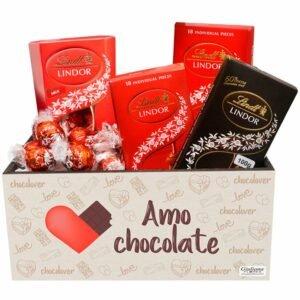 Cesta de Chocolate Delícias Lindt