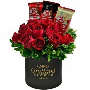 Rosas Vermelhas e Delícias Kit Kat