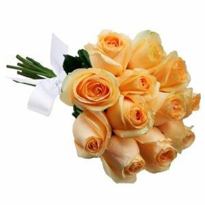 Buquê de 12 Rosas Champanhe