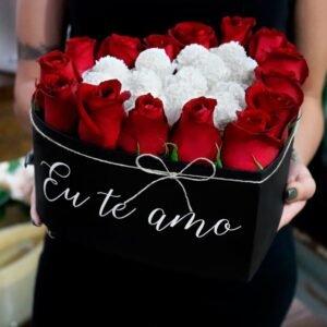 Coração de Rosas Eu Te Amo
